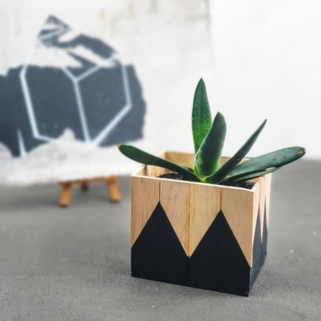 DIY on TV: Mosaik Blumentopf aus Holzkeilen