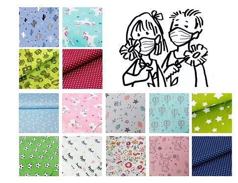 Kinder Mund-und Nasenmaske - vers. Farben/Muster