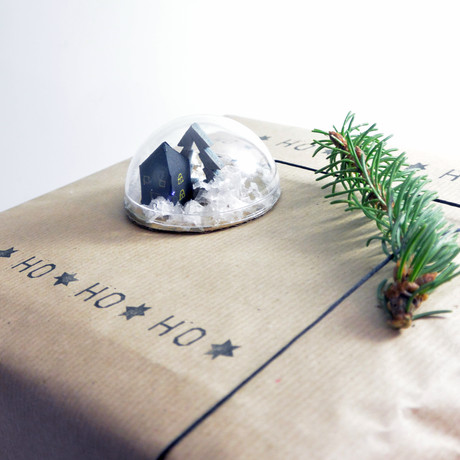 Schneekugel Geschenkanhänger