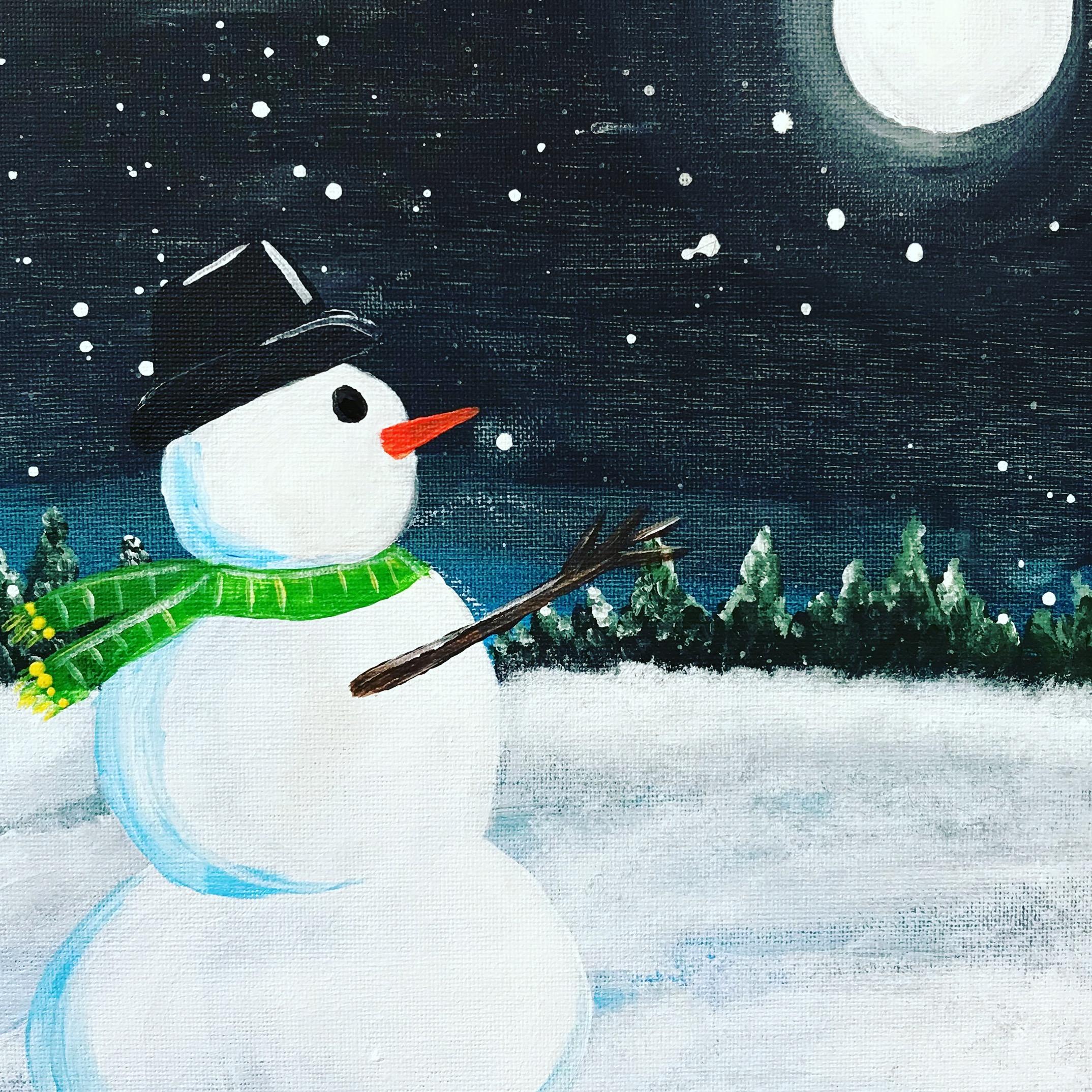 Evening Snowman