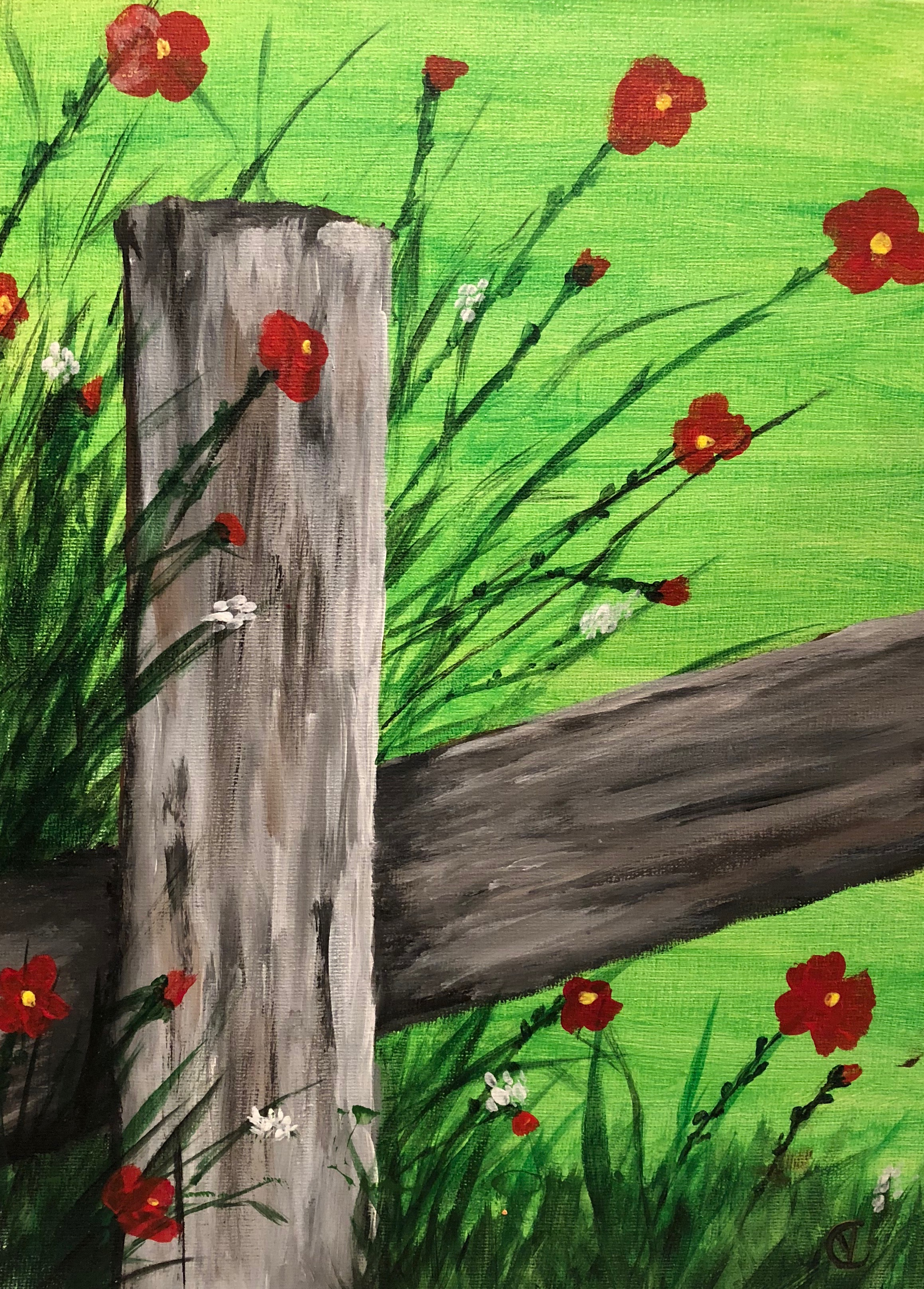 Fence Post Wildflowers