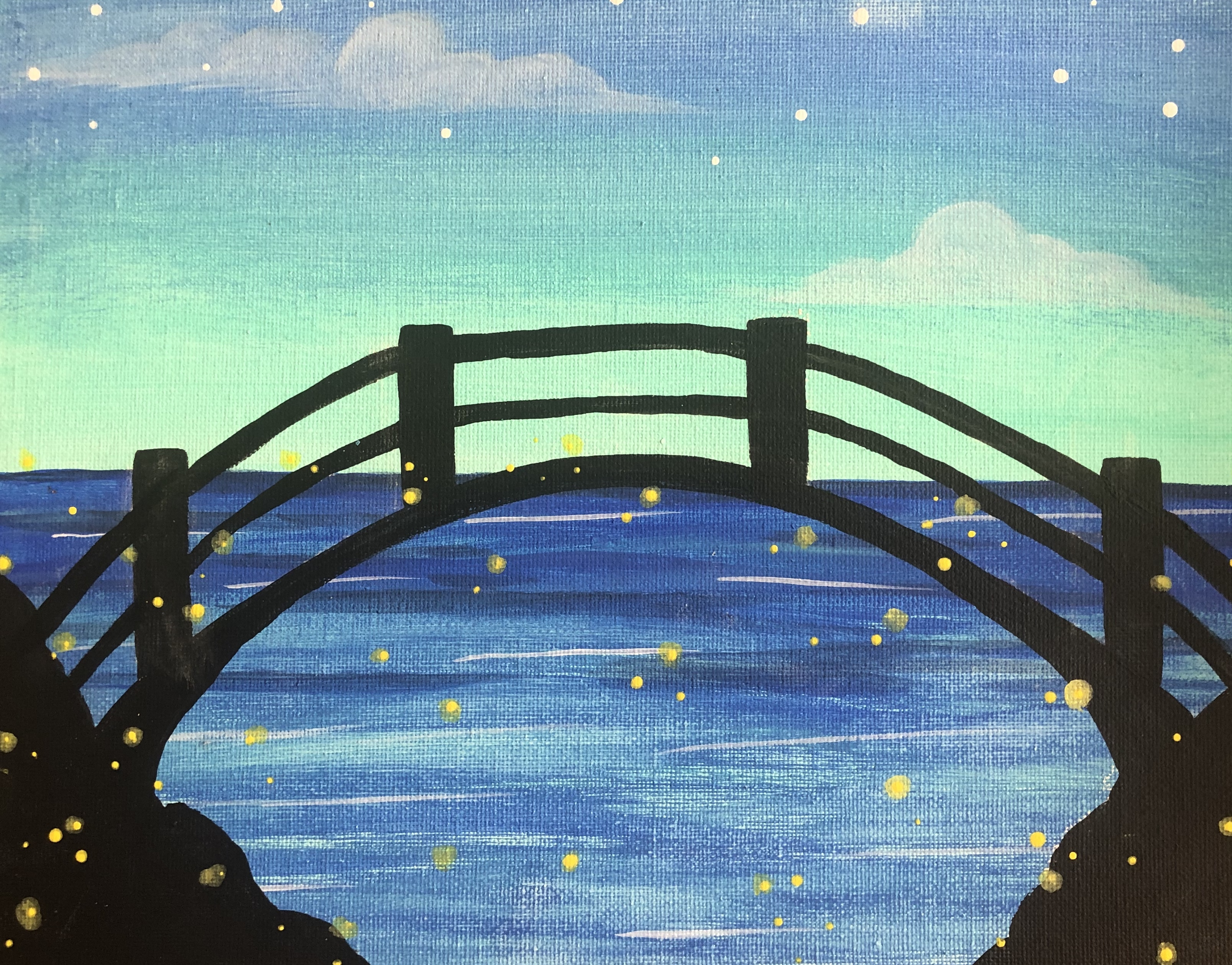 Fireflies by the Bridge