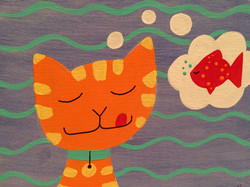 dreaming kitty
