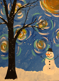 Snowy Starry Night