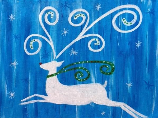Scroll Reindeer