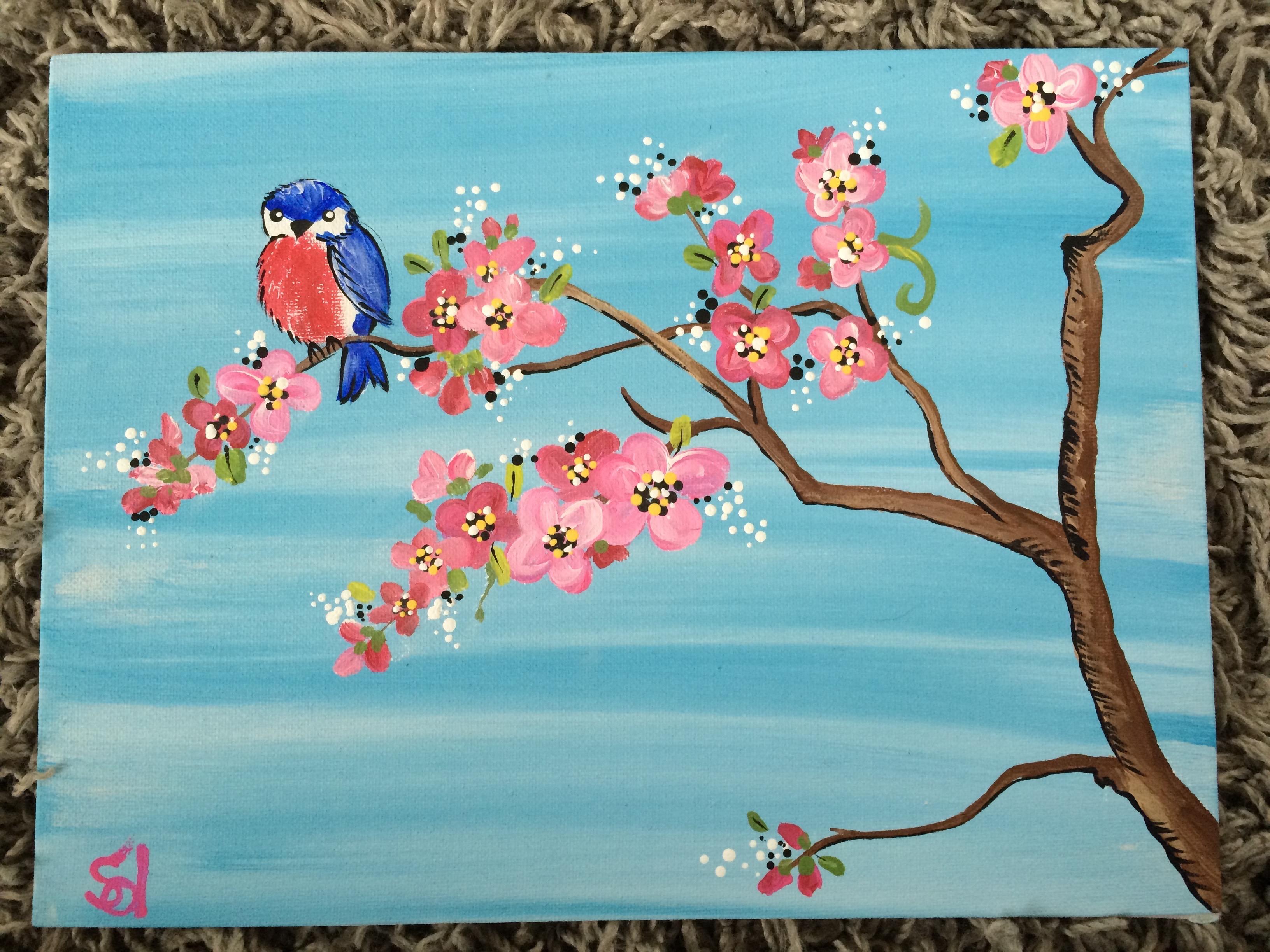 Cherry Blossom and Bird