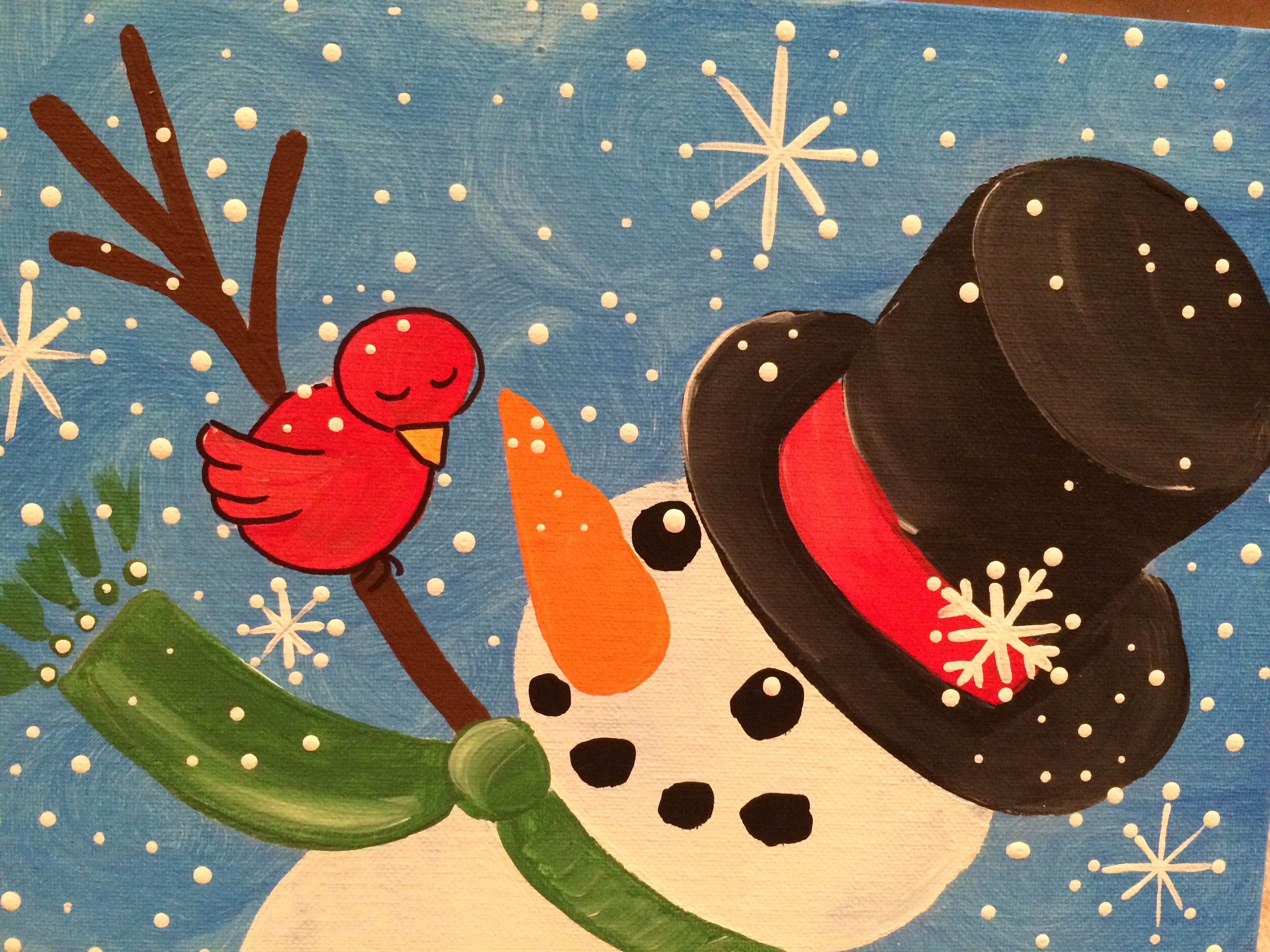 Snowman and Bird