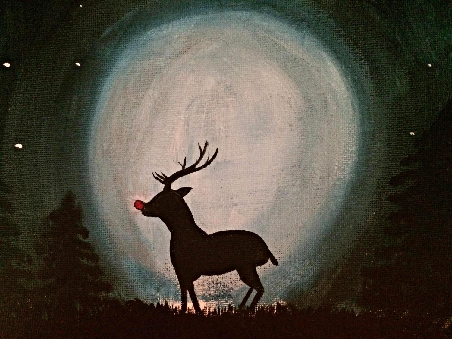 Moonlit Rudolph