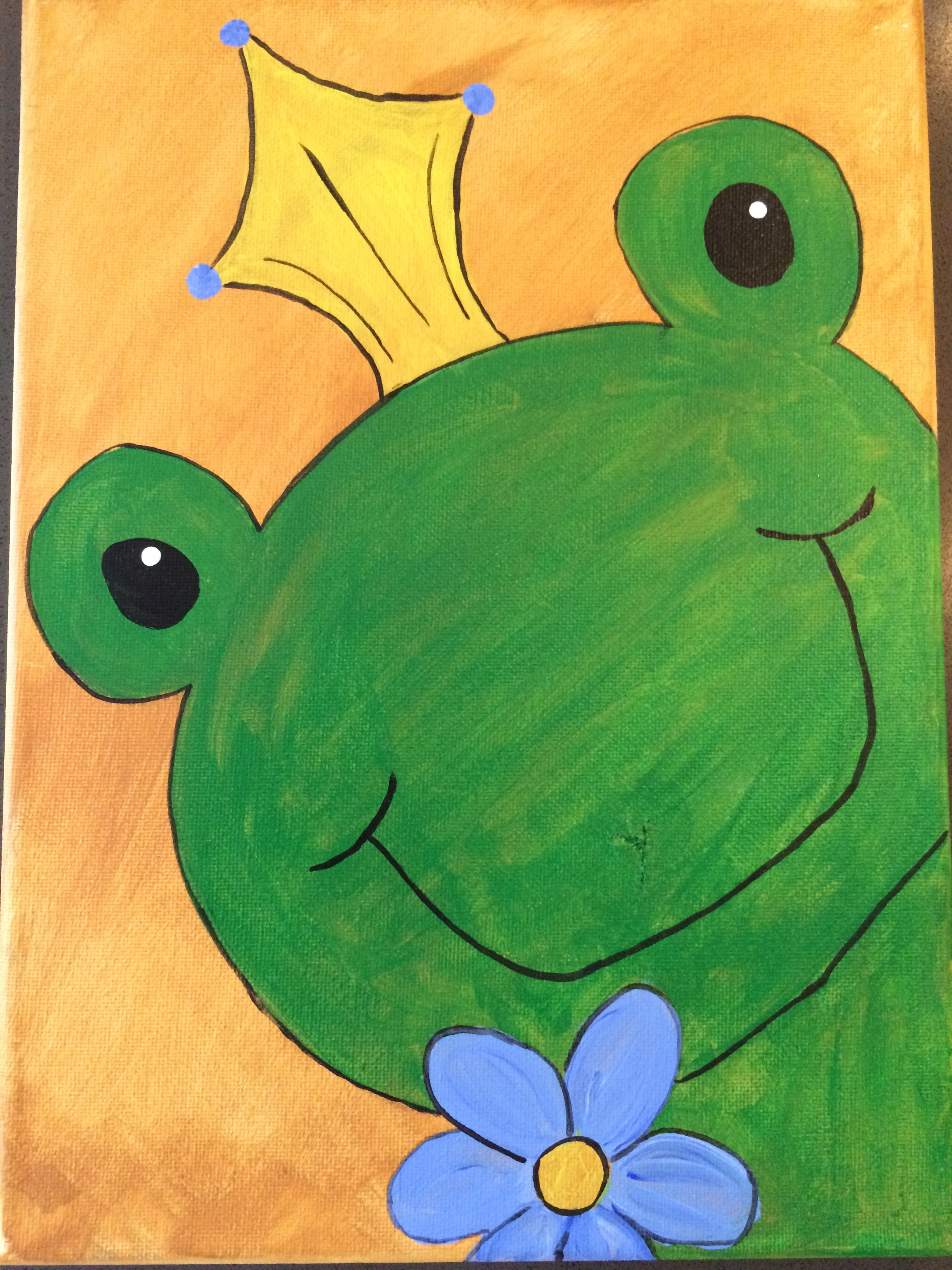 Peekin' Frog