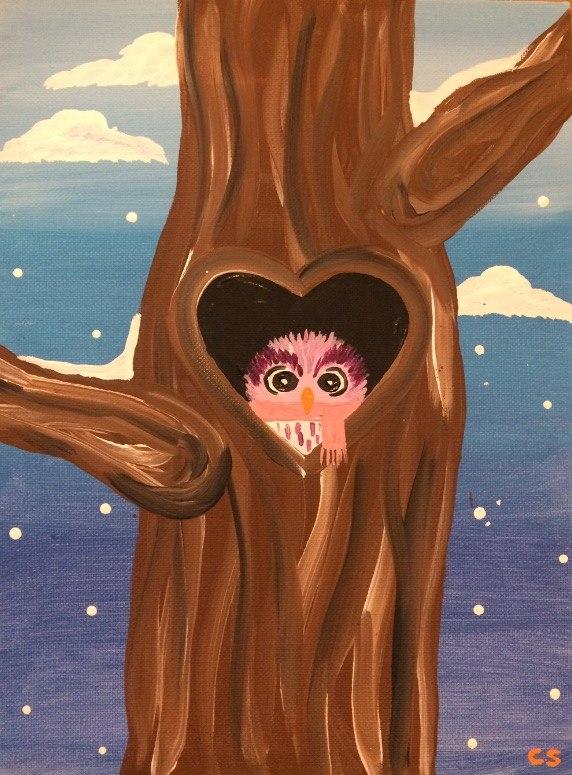 Owl in Heart