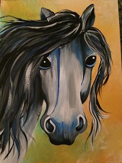 still horse