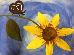 sunflower and bug