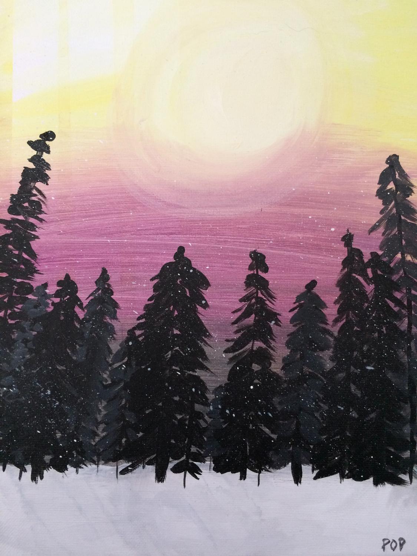 Soft Forest Sunset