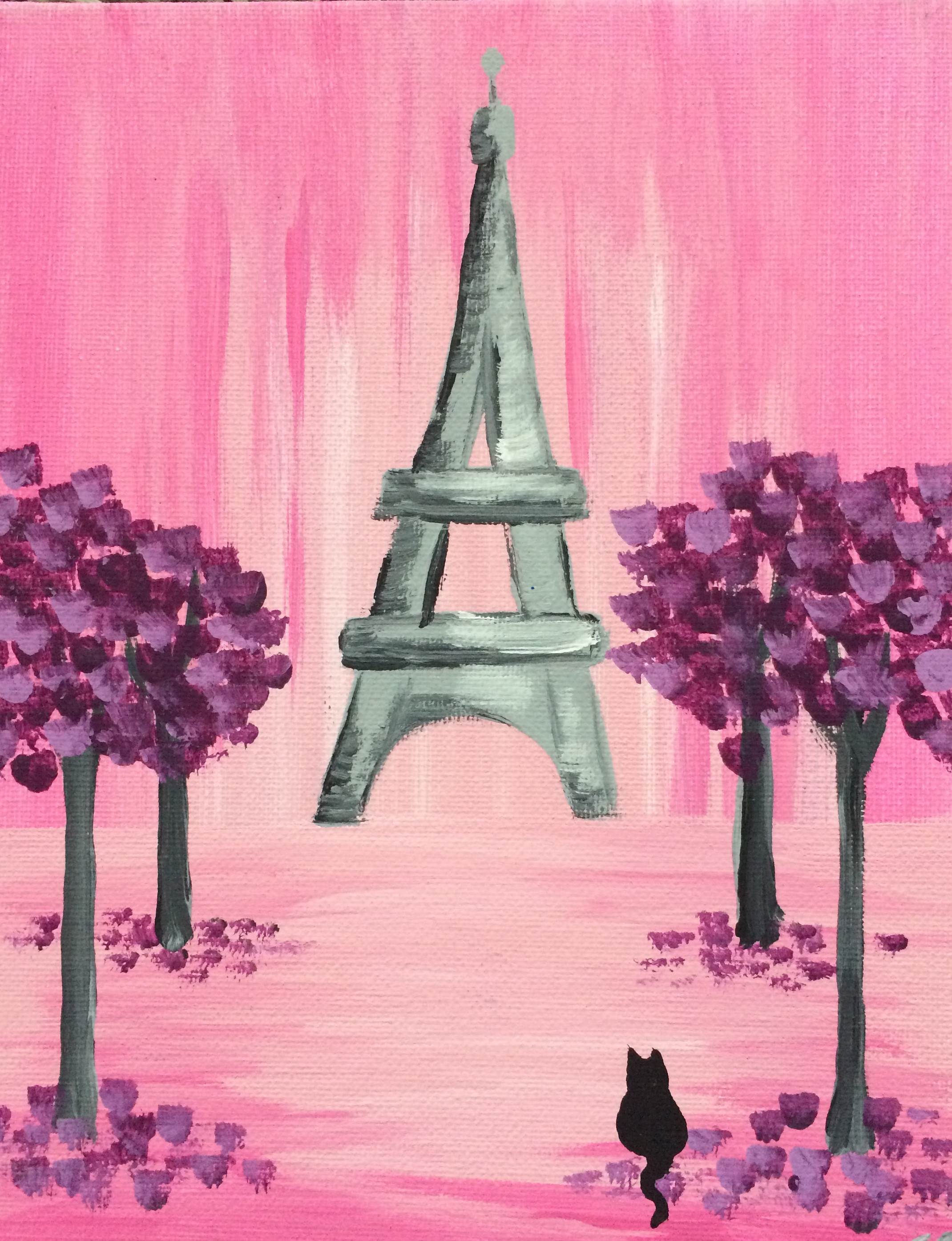 Pink Paris Trees