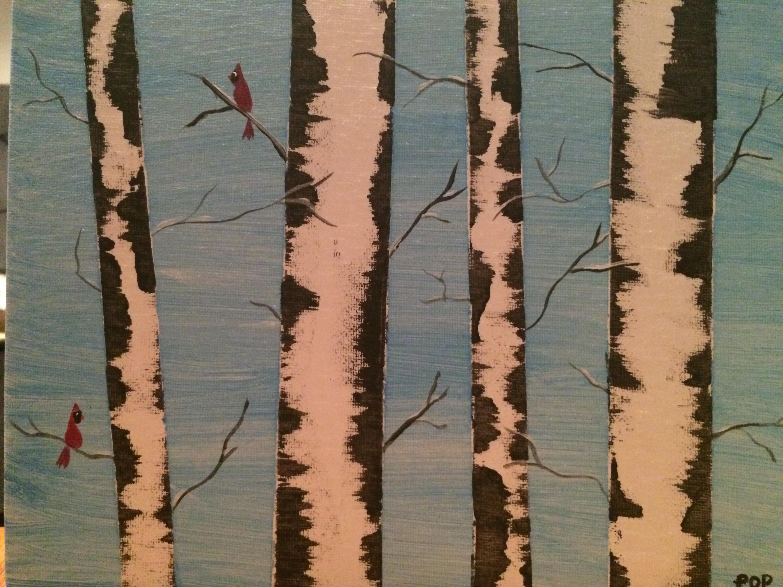 Winter Birch Tree