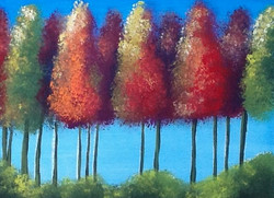 fall bunched trees