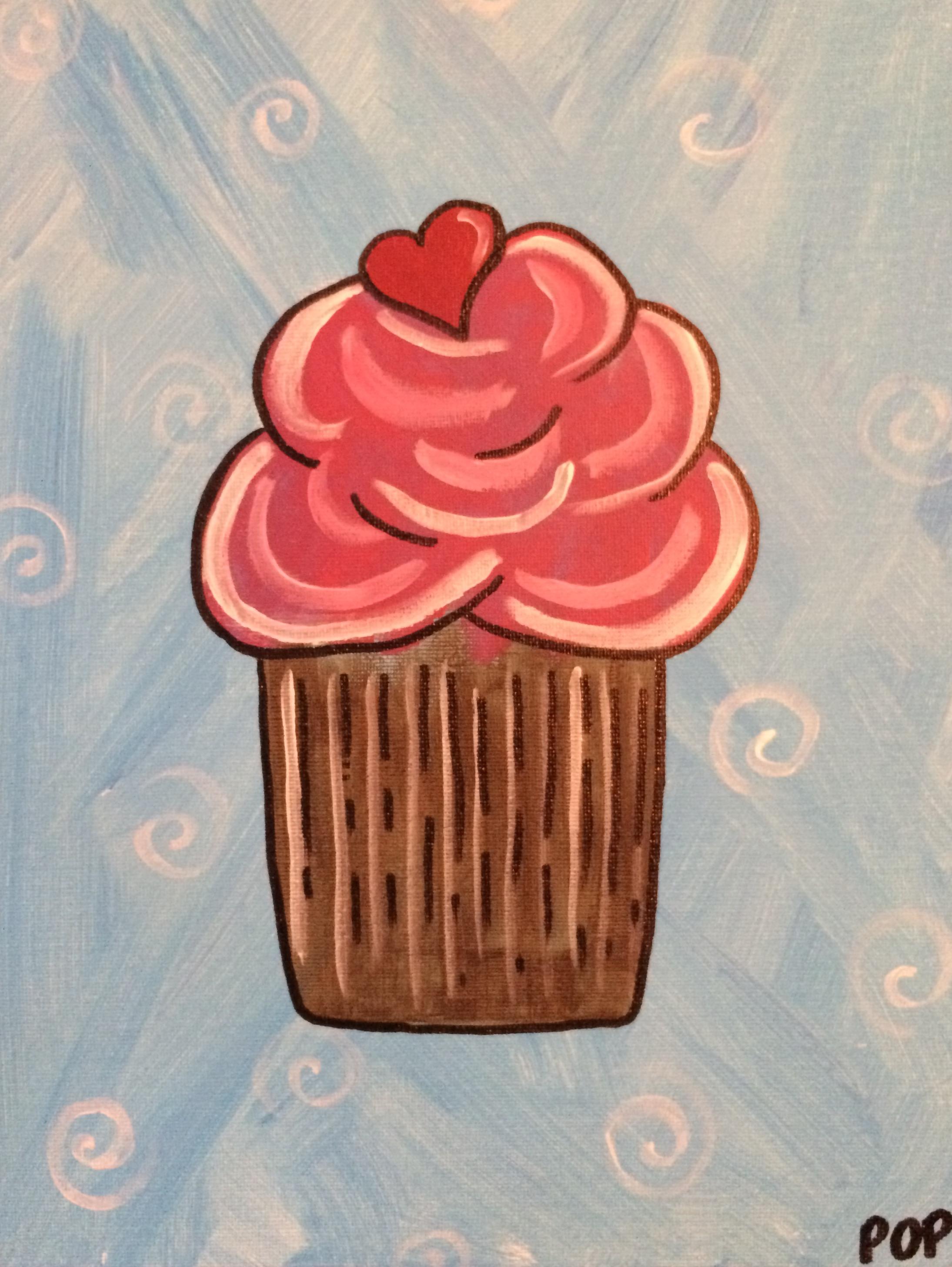 Cupcake & Hearts