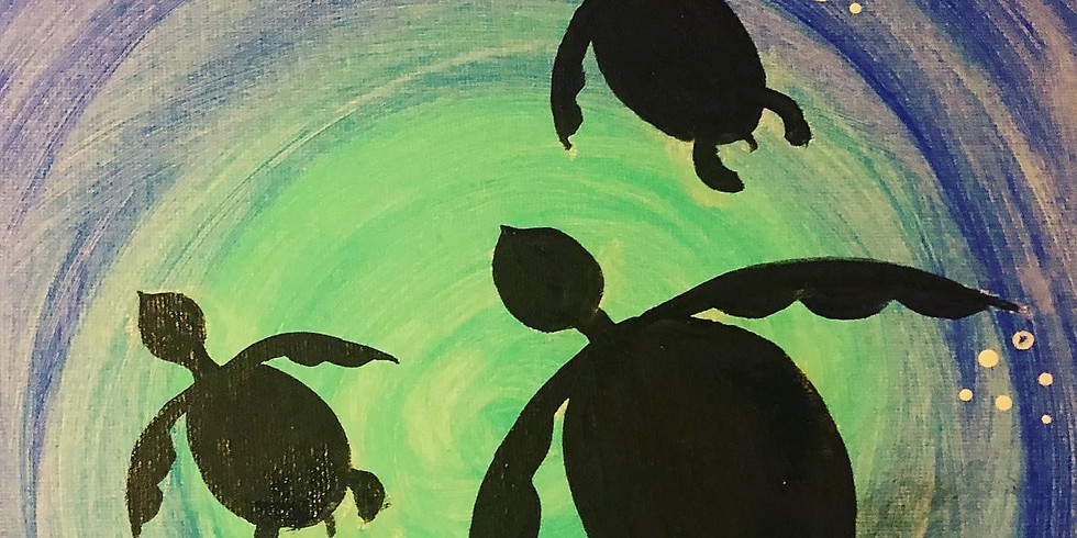 Painting in the Park - Sea Turtles