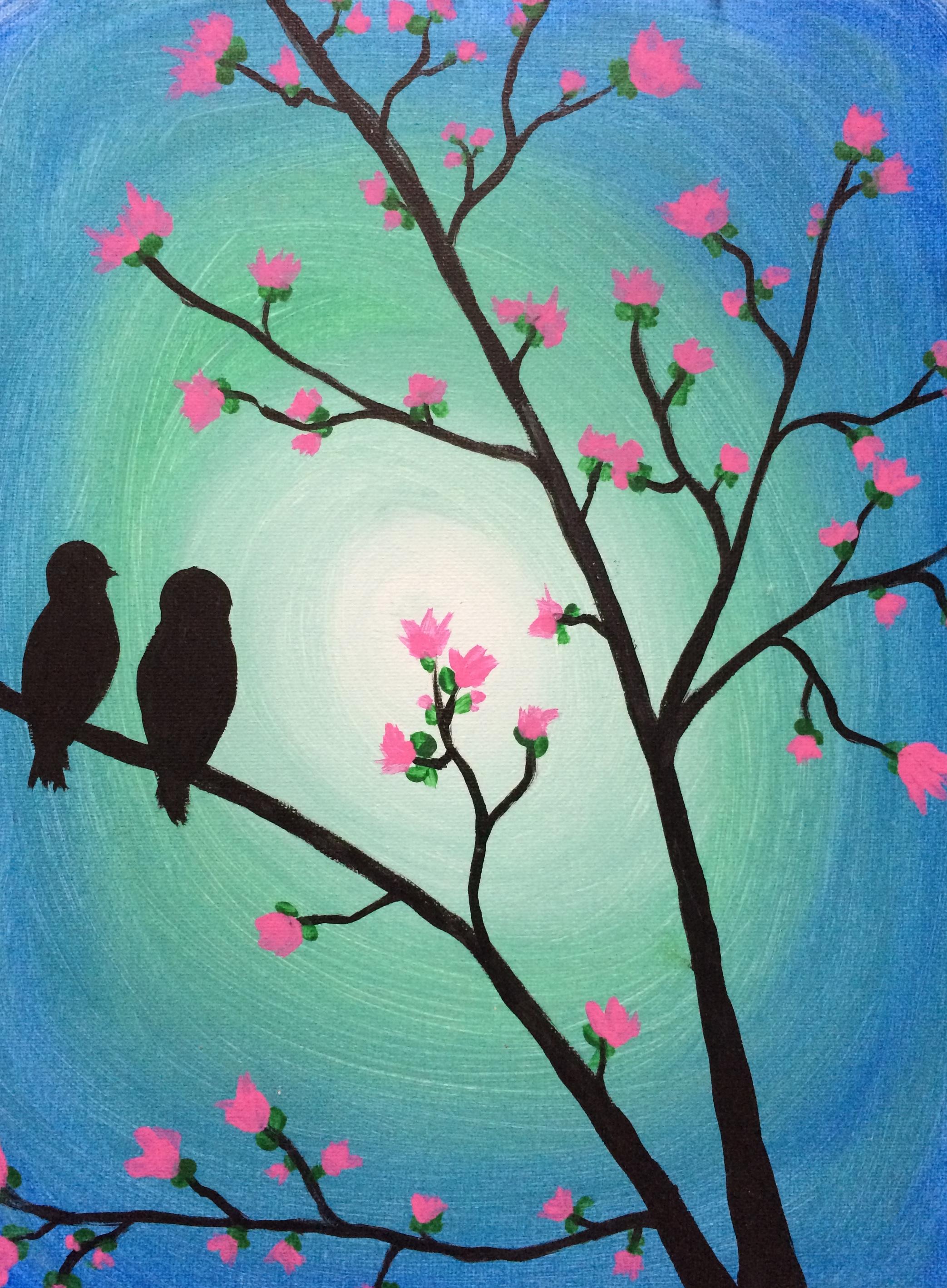 Bird Friends on Tree
