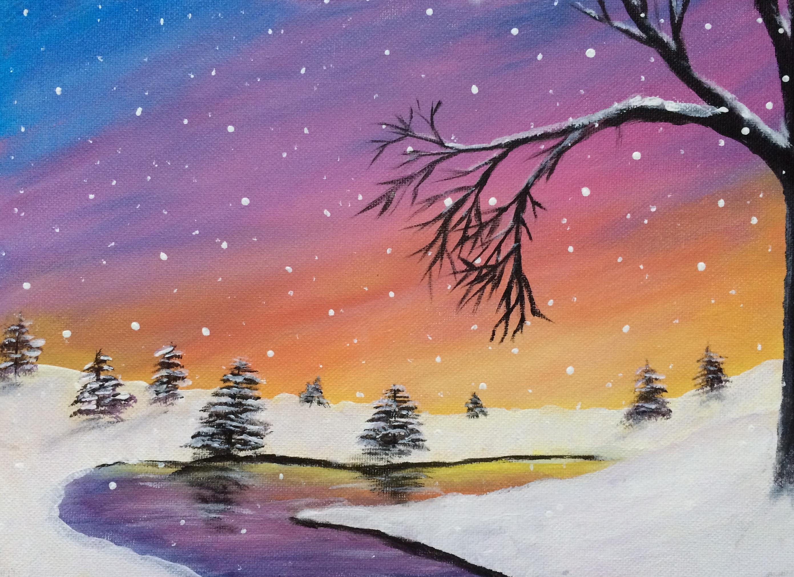 Winter Sunset Stream