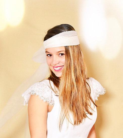 voile mariée tulle abaca headbands bandeau mariage chic