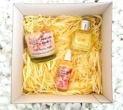 Pink Peony Petals - Large Gift Set