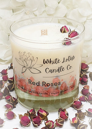 Red Roses Candle
