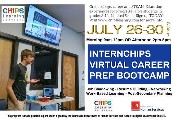 INTERNCHIPS summer camp virtual steam co