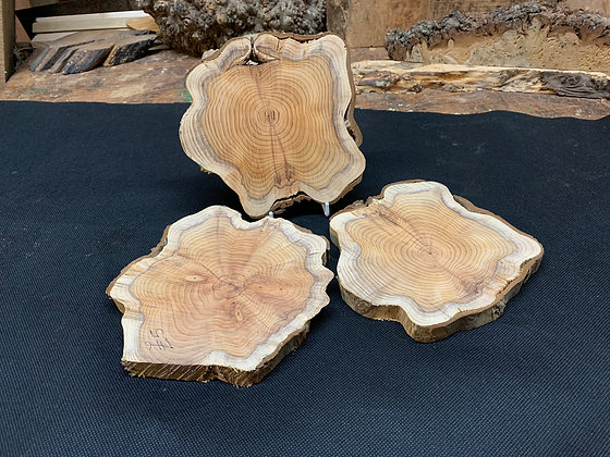 Yew Disc (Sanded) 170mm x 160mm x 20mm