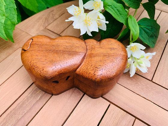 Double Love Heart Trinket Box