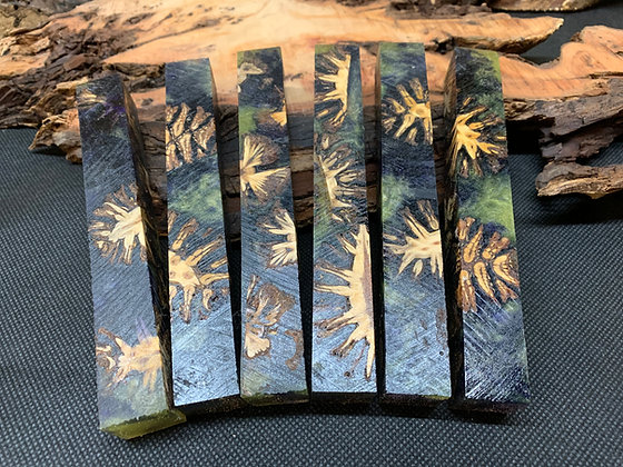 HYBRID Green and Yellow Pine Cone Pen Blank
