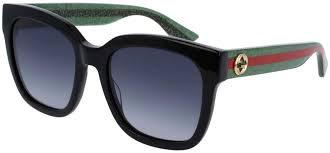 Gucci GG0034S Sunglasses Black/Green