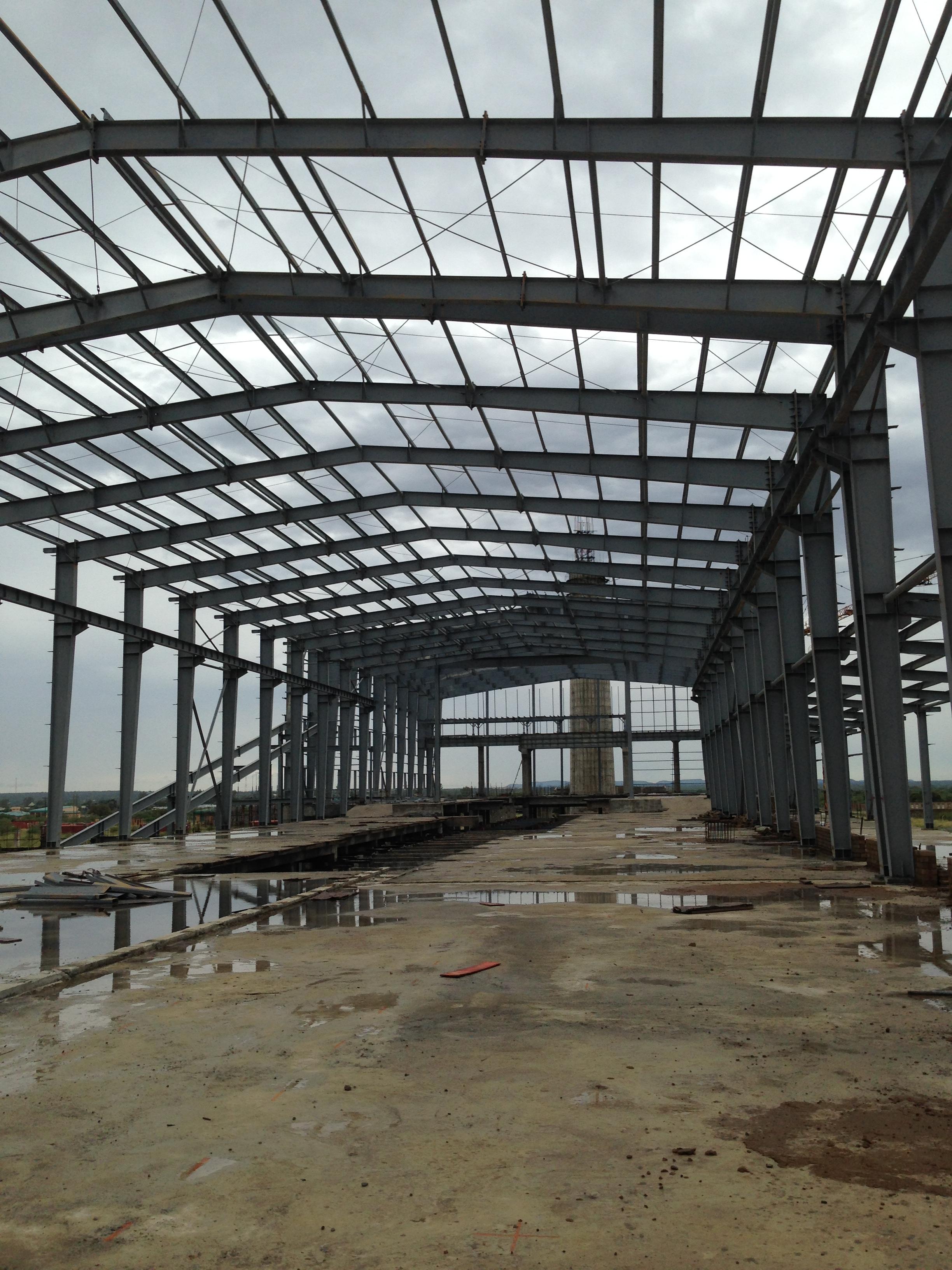 100 x 15 steel structure