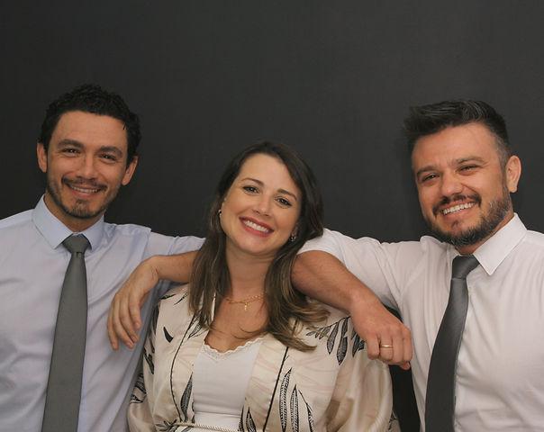 Doutores da Odontovp: Cesar, Catia e Die
