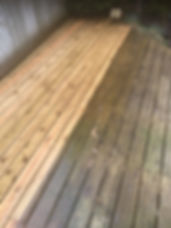 picture of decking being cleaned