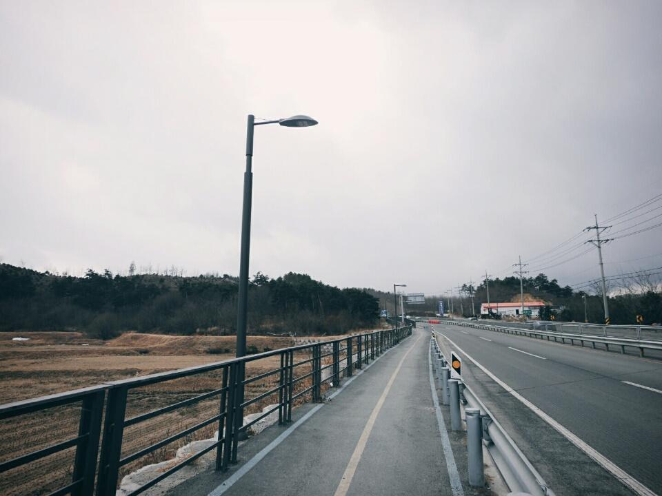 자전거 도로 보안등