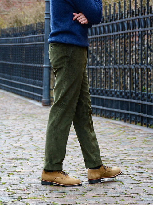 Moss Green Needle Cord Trouser