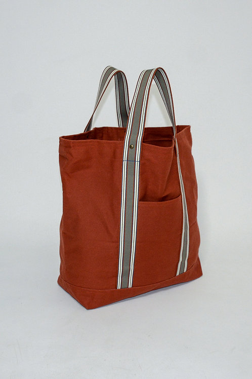 Rust Duck Canvas Tote Bag, hand made in Italy