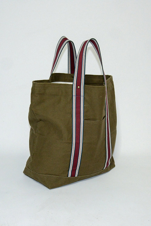 Olive Duck Canvas Tote Bag, hand made in Italy