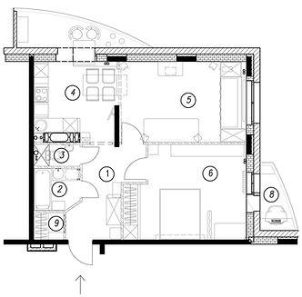 планировка квартиры, расстановка мебели, план расстановки, зонирование пространства, дизайнер интерьера, чертежи, чертеж, план этажа, дизайн-проект