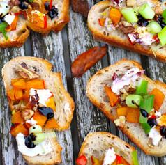 Kürbis-Crostini mit Balsamico