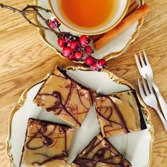 Brownies mit Erdnuss-Sesam-Creme