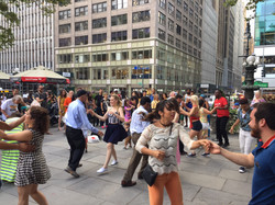 Crowd animation and Dance instruction in the park.JPG