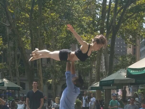 Dirty Dancing HBO rehearsal in Bryant Park