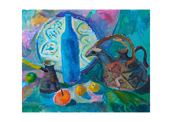 """""""Still Life in Blue"""" A3 size, signed"""