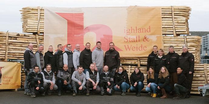 Das Team von Highland Stall & Weide