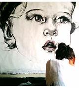 Image of Vanessa Lewis in Studio Apothecary Artist Bespoke Portrait Drawing Painting Newcastle Australia