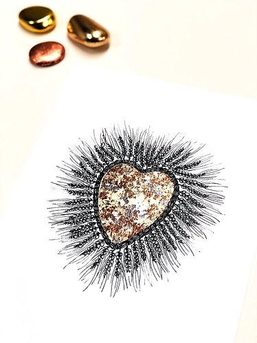 A4 Wheat Heart