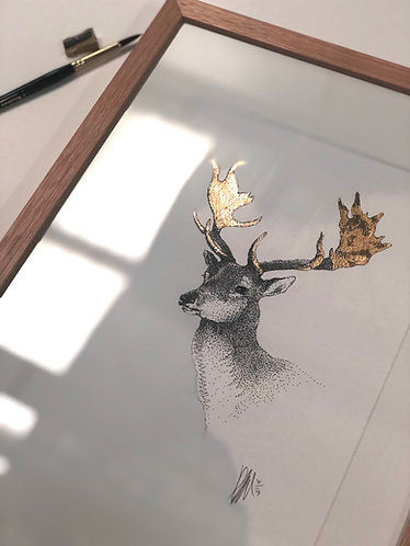 A3 Framed Stag