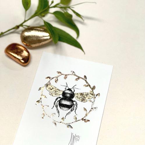 A6 Bee Wreath